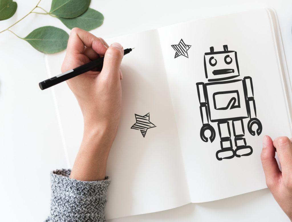 robot dibujo