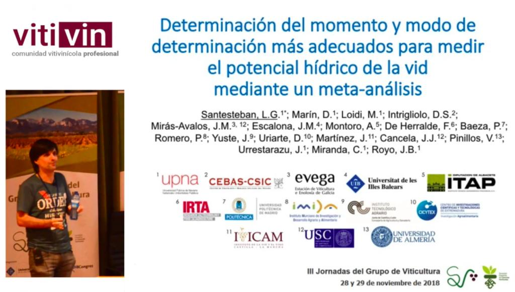Conferencia Gonzaga UPNa sobre metaanalisis potencial hídrico RedVitis