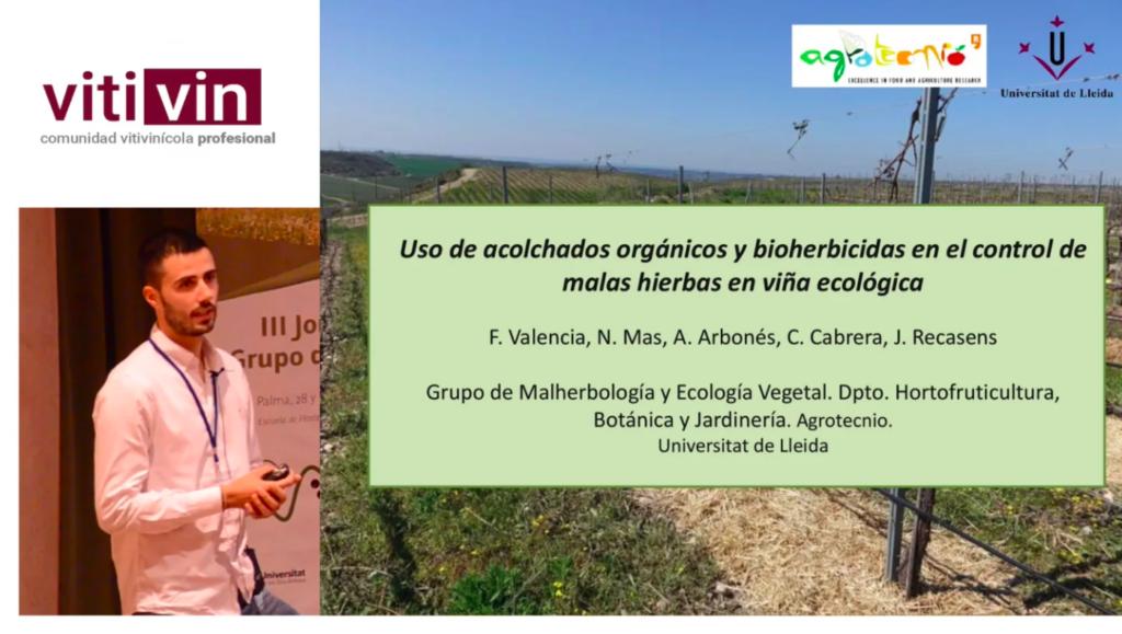 Ponencia de F Valencia sobre control mala hierbas en ecológico en SECH 2018