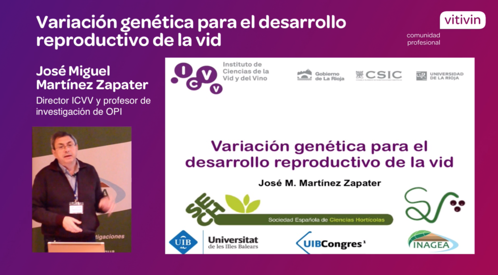 Ponencia sobre variación genética en el desarrollo reproductivo de la vid - JM.M.Zapater ICVV