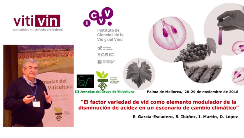 Ponencia de E. García-Escudero sobre problemática acidez Tempranillo en Rioja