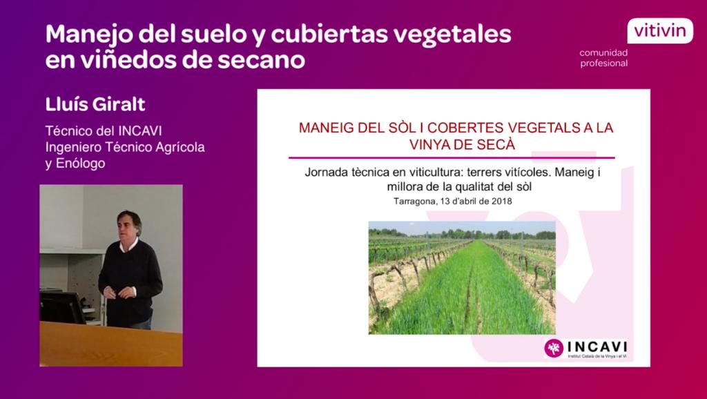 Ponencia sobre cubiertas vegetales de Lluis Giralt en Tarragona 2018