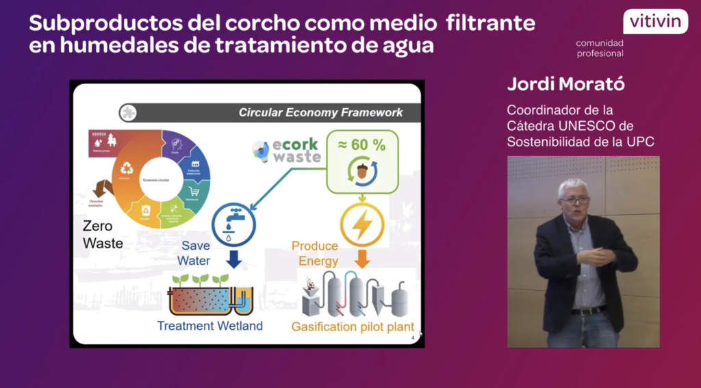Ponencia de Jordi Morató residuos corcho para humedales de tratamiento de aguas